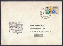 IK141   United Nations (Wien) 1992 Cover To Germany - Centre International De Vienne