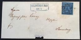 Oldenburg 1852 Mi 2 III Tadellos KABINETTSTÜCK BRIEF (XF/SUP) > Neuenburg  (Oldenbourg Lettre Cover First Issue Stamp - Oldenburg