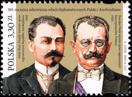 Poland 2020 Fi 5037 Mi 5187 100th Anniversary Of The Restoration Of Diplomatic Relations Between Poland And Azerbaijan - 1944-.... República