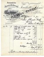 55 - Meuse - BAR-LE-DUC - Facture FEUILLETTE & SCHMID -  Automobiles, Appareils à Gaz Acétylène - 1899 - REF  153C - 1900 – 1949