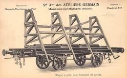 Trein Sté Ame Des Ateliers Germain Monceau Sur Sambre, Wagon Pupitre Pour Transport De Glaces Charleroi    Barry 5794 - Charleroi