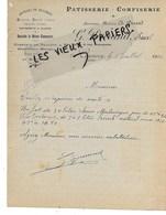 58 - Nièvre - CLAMECY - Facture DURAND - Pâtisserie-confiserie - 1922 - REF 153C - 1900 – 1949