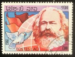 Postes LAO - Laos - Ref 3 - (o) Used - 1983 - Karl Marx - Karl Marx