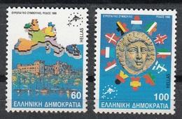 GRECIA 1988 - CONSEJO DE EUROPA - YVERT Nº 1695/96**(A) - Nuevos