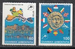 GRECIA 1988 - CONSEJO DE EUROPA - YVERT Nº 1695/96**(B) DENTADO DOS LADOS - Nuevos