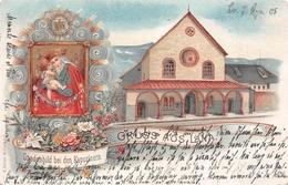 LANA-Bolzano-Meran (Italie-Italia) Gruss Litho-Gnadenbild Bei Den Kapuzinern-Immagine Religiosa LITOGRAFIA 1905 - Bolzano