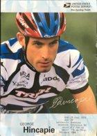 Postcard George Hincapie - US Postal (blueish Backside) - 2000 - Ciclismo