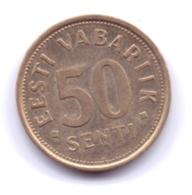 EESTI 1992: 50 Senti, KM 24 - Estonia
