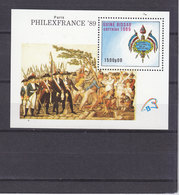 GUINEE BISSAU BLOC 67 REVOLUTION FRANCAISE ET PHILEXFRANCE LUXE NEUF SANS CHARNIERE - French Revolution