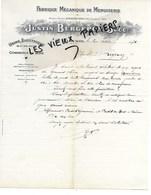 69 - Rhône - FLEURIE - Facture BERGERON - Scierie, Menuiserie, Commerce De Bois - 1931 - REF 153C - 1900 – 1949