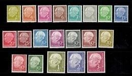 Allemagne/RFA Série Heuss YT N° 62A/72B Neufs ** MNH. TB. A Saisir! - [7] République Fédérale