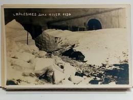 39 - CHALESMES - HIVER 1934 - CARTE PHOTO - TRES BEL ETAT - France