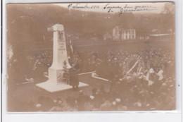 GERARDMER : Carte Photo De L'inauguration Du Monument Aux Morts - Le Discours Du Maire - Très Bon état - Gerardmer