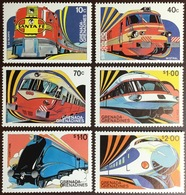 Grenada Grenadines 1982 Trains Of The World MNH - Grenada (1974-...)