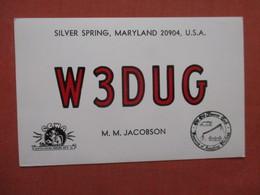 Silver Spring   Maryland  W3DUG   M.M. Jacobson  Ref 4044 - Stati Uniti