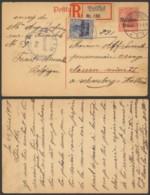 Belgique 1918 - Entier Postal Recommandé Bruxelles Vers Pays Bas - Censure - Stamped Stationery