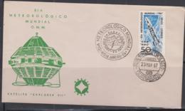 SPACE - BRAZIL - 1967 - EXPLORER VII SATELLITE ON ILLUSTRATED FDC - FDC & Commemoratives