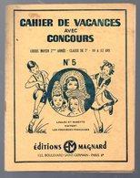 Cahier D'écolier: Cahier De Concours De Vacances  CM2  N°5 (illustrations RB) (M0049) - Protège-cahiers