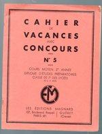 Cahier D'écolier: Cahier De Concours De Vacances  CM2  N°5 (illustrations RB) (M0050) - Protège-cahiers