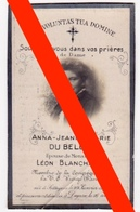 BIDPRENTJE - DU BELLOY - BLANCHAERT - ZOTTEGEM - DEINZE - 1870/1926 - Décès