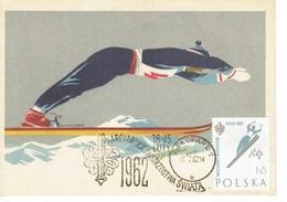 CARTE MAXIMUM  CHAMPIONNAT DU MONDE SKI NORDIQUE 1962 - Cartoline Maximum