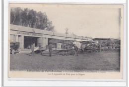 JUVISY : Aérodrome De Port-aviation, Ecole Demazel-caudron, Les 3 Appareils En Piste Pour Le Départ - Tres Bon Etat - Juvisy-sur-Orge