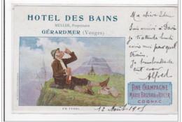 GERARDMER : Hotel Des Bains (publicité) - Tres Bon Etat - Gerardmer