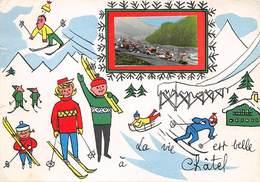 74 .n° 204907.chatel.ski.cpsm - 15 X 10.5 Cm - Châtel