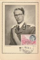 Carte Maximum - Portrait Officiel Du Roi Des Belges 1956 - Congo Belge - Autres