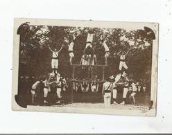 GYMNASTES CARTE PHOTO NON SITUEE (JURA ? ) 1909 - Gymnastique
