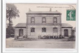 SAINT-AUBIN-D'ECROSVILLE : Mairie Et Ecole Des Garcons - Tres Bon Etat - Saint-Aubin-d'Ecrosville