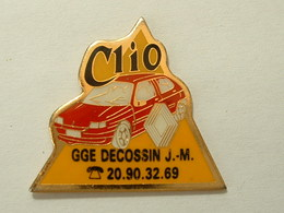 PIN'S RENAULT CLIO - GGE DECOSSIN J-M - Renault