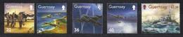 Guernsey Guernesey  2003 Yvertn° 965-969 (o) Oblitéré  Cote 14,00 € En Souvenir La 2ième Guerre Mondiale - Guernsey