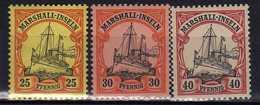 Deutsche Kolonien, Marshall-Inseln Mi 17-19 ** [090520II] - Colony: Marshall Islands