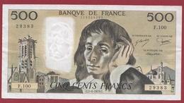"500 Francs ""Pascal"" Du 07/06/1979.C----TTB+--ALPH.F.100 - 500 F 1968-1993 ''Pascal''"