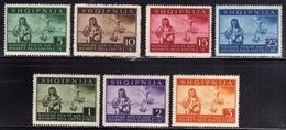 ALBANIA OCCUPAZIONE TEDESCA 1944 PRO SINISTRATI SERIE COMPLETA COMPLETE SET MNH - Occ. Allemande: Albanie