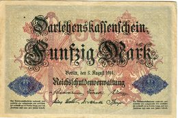 Allemagne Germany 50 Mark 5 August 1914 P49b - 50 Mark