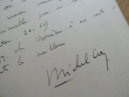 Michel CIRY (1919-2018) PEINTRE & Graveur. AUTOGRAPHE - Autographes