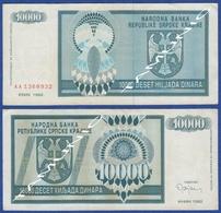 CROATIA KNIN 10000  Dinara 1992 - Croacia