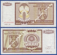 CROATIA KNIN 50000  Dinara 1993 - Croacia