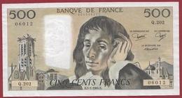 "500 Francs ""Pascal"" Du 05/01/1984.H----TTB+--ALPH.Q.202 - 1962-1997 ''Francs''"