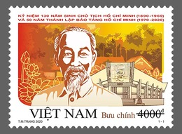 Block 4 Of Vietnam Viet Nam MNH Perf Stamps Issued On 17 May 2020 : 130th Birth Anniversary Of President Ho (Ms1123) - Vietnam