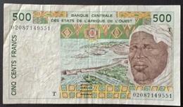 BD1 - West African States 500 Francs Banknote #02087149551 T (Togo) - Westafrikanischer Staaten