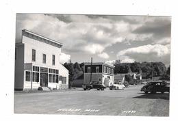 HULBERT, Michigan, USA, Main Street & Stores, 1950's Cars, Old Real Photo Postcard - Sonstige