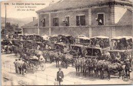 43 DUNIERES - Le Départ Pour La Louvesc à La Gare - France