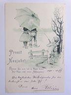 """""""Neujahr, Kinder, Schirm, Engel, Schlauch"""" 1899, Ottomar Zieher, Nr.57 ♥  - New Year"""