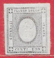 Sardaigne N°16 1c Noir 1861 (*) - Sardegna