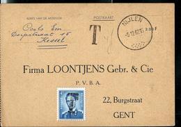 Doc.  Obl. NIJLEN 06/12/1962 Taxé à Gent Avec Type Lunettes à 4Frs N° 926 - Portomarken
