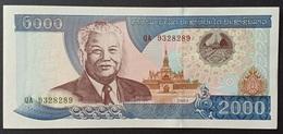 BD1 - Laos 2000 Kip Banknote 2003 #QA 9328289 UNC - Laos