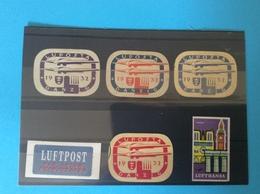 Lot De 4 Vignettes Très Rares Danzig 1932 Luposta Poste Aérienne Meeting En Cadeau 2 Autres Lufthansa Luftpost - Dantzig